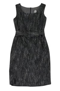 Anni Kuan short dress Grey Silver Tweed on Tradesy