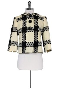 Milly Cream White Tweed Black Jacket