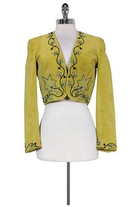 Guy Laroche Couture Lime Suede Green Jacket