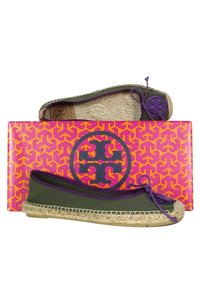 Tory Burch Purple Espadrille Green Flats
