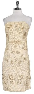 Sue Wong short dress Cream Lace Strapless on Tradesy