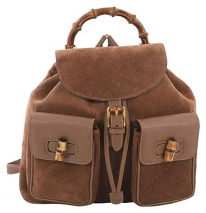 Gucci Suede Backpack