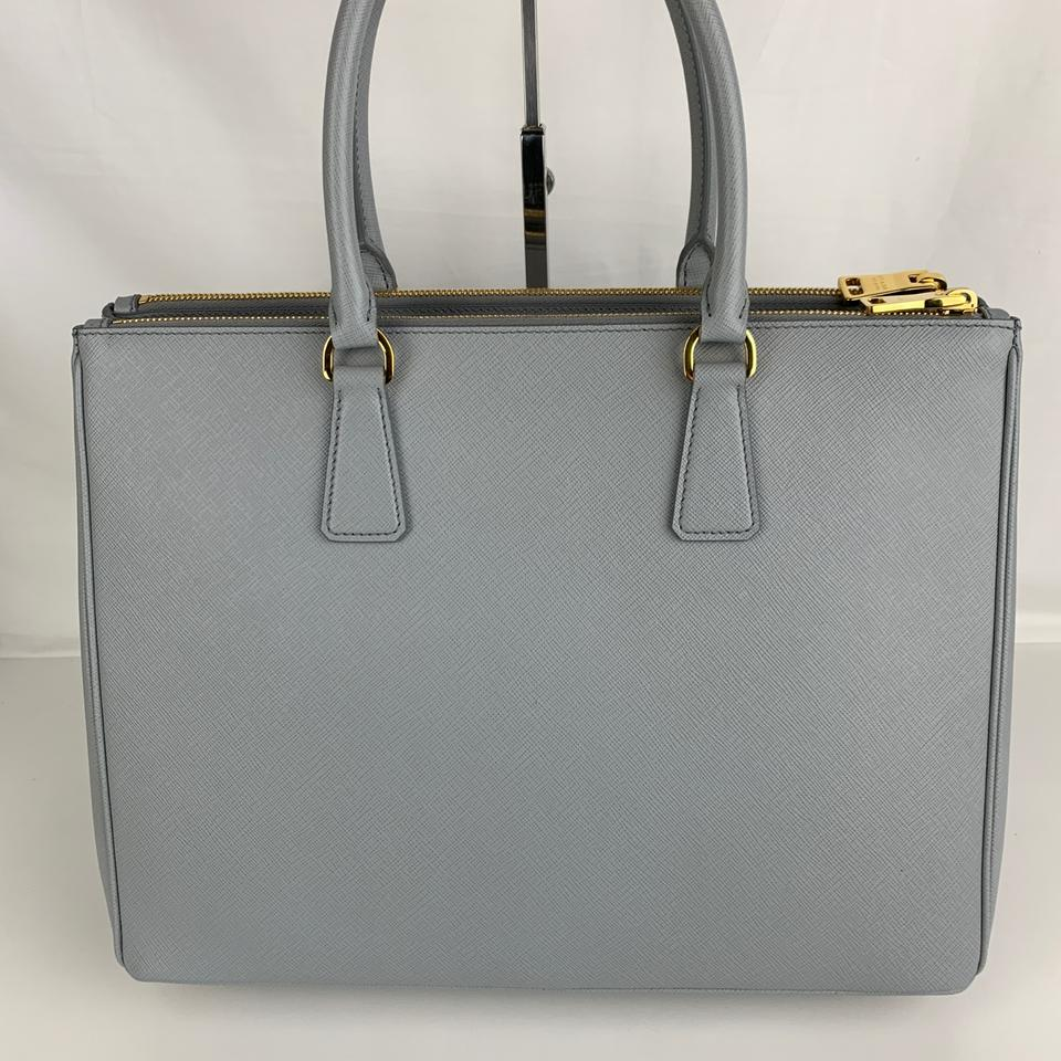 c322eeb3ae2c Prada Galleria Double New Italian Large Zip Gray Saffiano Leather Tote -  Tradesy
