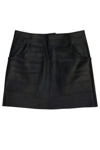 Coach Leather W/ Pockets Skirt Black