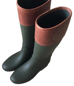 Tory Burch green and brown Boots