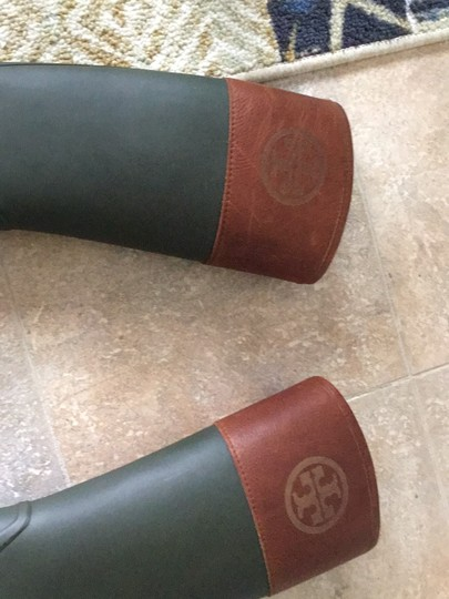 Tory Burch green and brown Boots Image 8