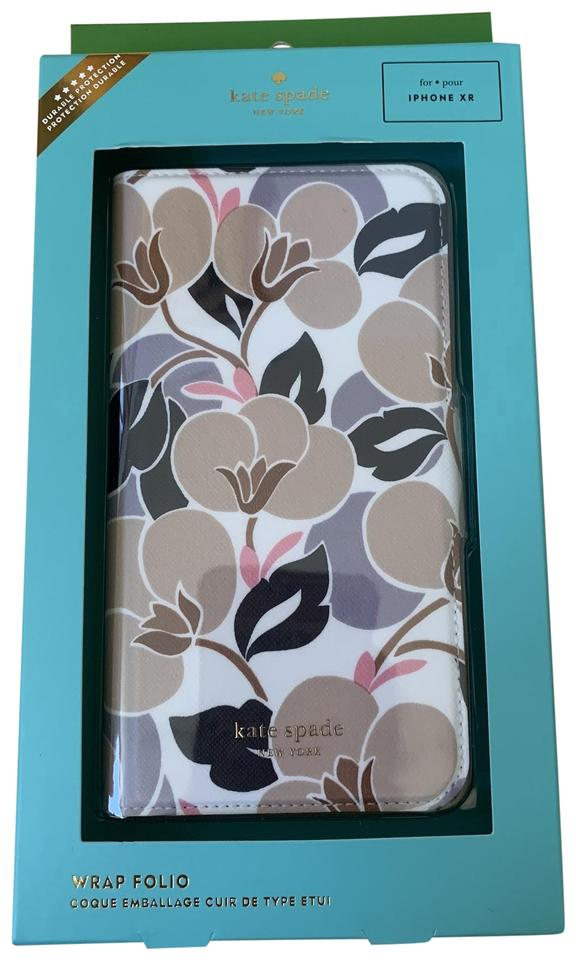 new product ab896 fc11e Kate Spade Multicolor Iphone Xr -- Breezy Floral Leather Wrap Folio Case  Tech Accessory 20% off retail