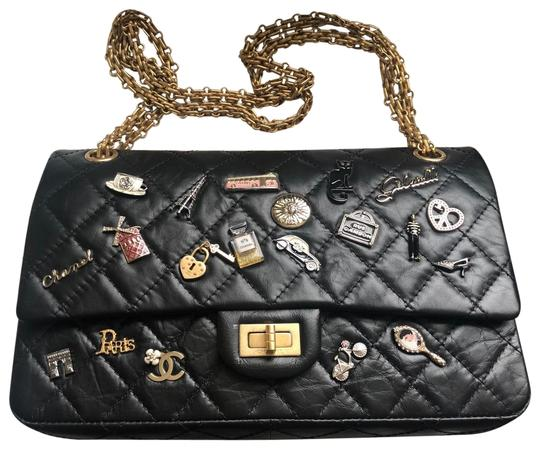 Preload https://img-static.tradesy.com/item/25217580/chanel-255-reissue-collectable-limited-edition-flap-bolso-clasico-con-black-calf-leather-shoulder-ba-0-3-540-540.jpg