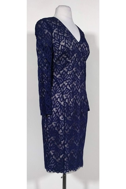 Reiss short dress Navy Lace Fitted on Tradesy Image 1