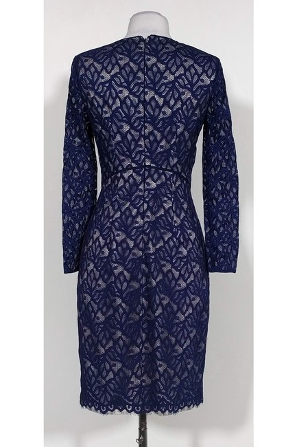 Reiss short dress Navy Lace Fitted on Tradesy Image 2