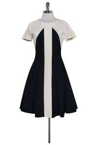 Marc Bouwer short dress Black Cream Flared on Tradesy