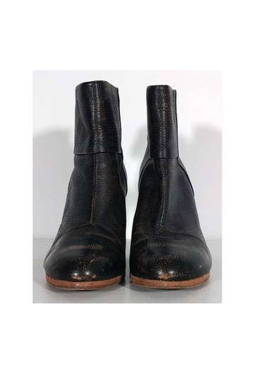 Rag & Bone Distressed Stacked brown Boots Image 1