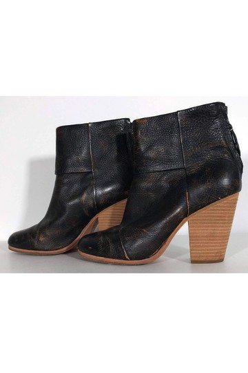 Rag & Bone Distressed Stacked brown Boots Image 2