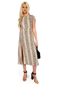 Current Boutique short dress brown Snake My Breath Away on Tradesy