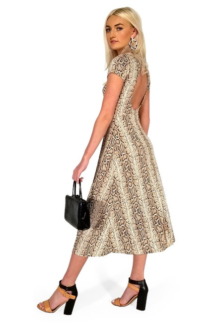 Current Boutique short dress brown Snake My Breath Away on Tradesy Image 1