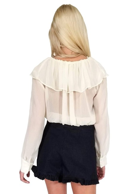 Current Boutique Happy Go Ruffly Top cream Image 2