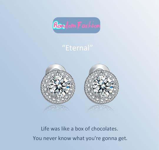 Fashion Jewelry For Everyone White Clear 18k Gold Filled Micro Round Australian Cubic Zircon Stud Earrings Image 1