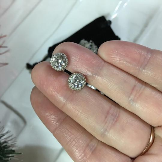 Fashion Jewelry For Everyone White Clear 18k Gold Filled Micro Round Australian Cubic Zircon Stud Earrings Image 4