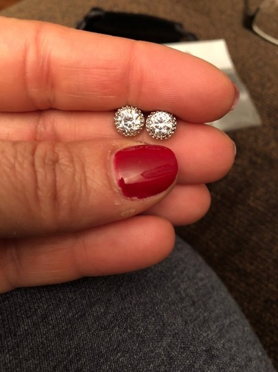 Fashion Jewelry For Everyone White Clear 18k Gold Filled Micro Round Australian Cubic Zircon Stud Earrings Image 5