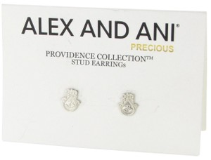 Alex and Ani Providence Hand Of Fatima Earrings PC14SPE06S Sterling Silver