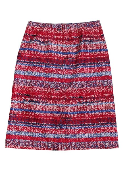 Tory Burch Brilliant Mouline Pencil Skirt red Image 1