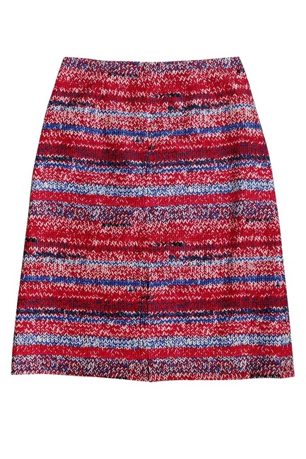 Tory Burch Brilliant Mouline Pencil Skirt red Image 2