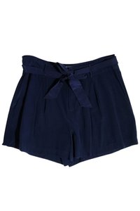 Joie Navy Blue Silk Dress Shorts