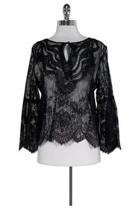 Elie Tahari Lace Calista Top Black