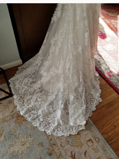 Allure Bridals White Lace 9051 Sexy Wedding Dress Size 8 (M) Image 8