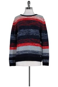 Barbour Navy Red Light Blue White Sweater