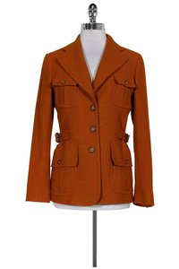 Max Mara Wool Alpaca Orange Jacket