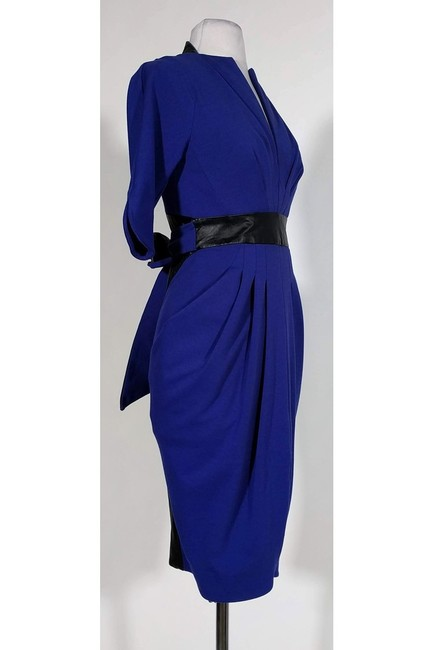 Catherine Malandrino short dress Blue Indigo Leather Trim on Tradesy Image 1