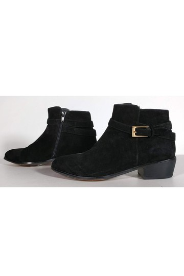 Barneys New York Suede Ankle Black Boots Image 2