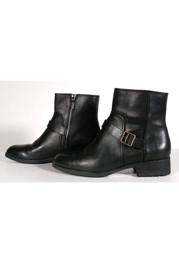Cole Haan Leather Ankle Black Boots Image 2