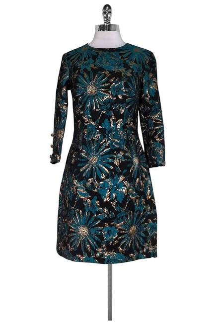 Trina Turk short dress Black Gold Teal Floral on Tradesy Image 0
