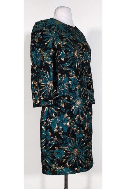Trina Turk short dress Black Gold Teal Floral on Tradesy Image 1