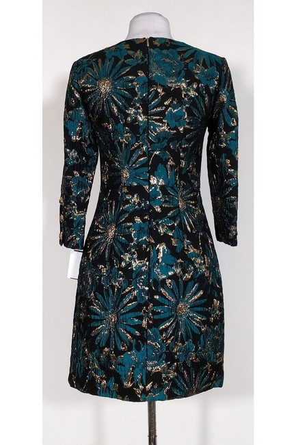 Trina Turk short dress Black Gold Teal Floral on Tradesy Image 2