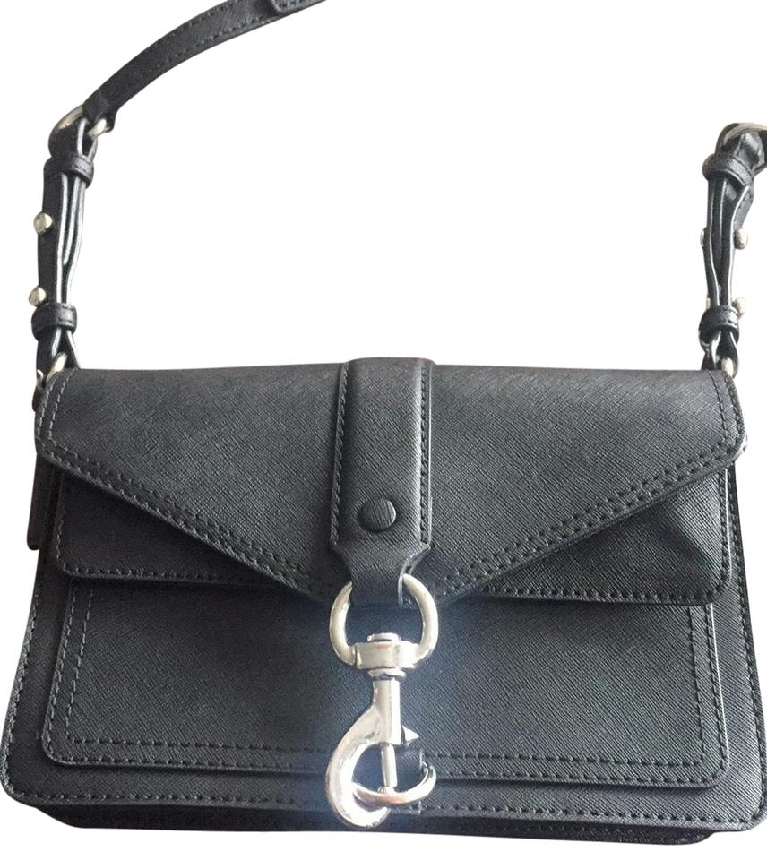 really cheap online shop new style Rebecca Minkoff Hudson Moto Mini Black Leather Cross Body Bag 44% off retail