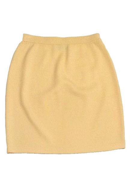 St. John Collection Knit Pencil Skirt yellow Image 1