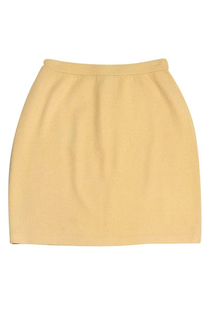 St. John Collection Knit Pencil Skirt yellow Image 2