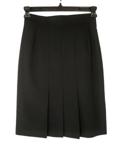 Akris Wool Pleated Skirt Black