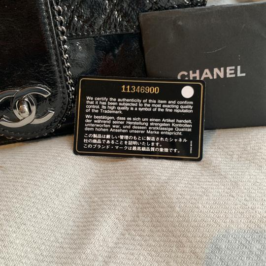 4723d2625277 Chanel Classic Flap Madison Black Patent Leather Shoulder Bag - Tradesy