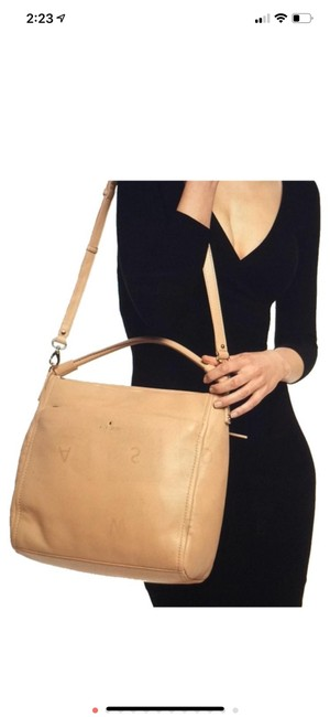 Item - New York Cobble Hill Collection Cream Leather Hobo Bag