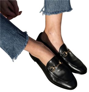 Gucci Brixton Princetown Loafer Brixton Loafer Black Flats