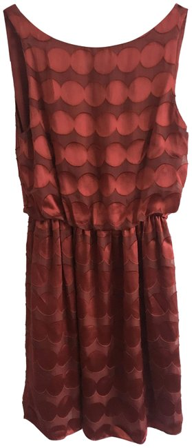 Alice + Olivia Rust Red Short Cocktail Dress Size 2 (XS) Alice + Olivia Rust Red Short Cocktail Dress Size 2 (XS) Image 1