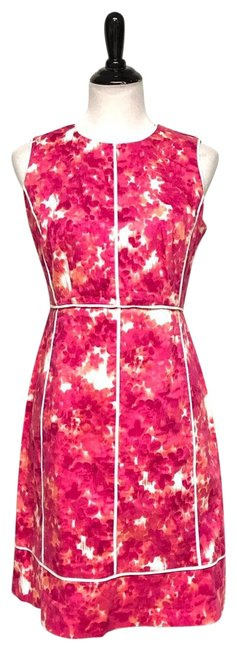 Item - Pink Caged Mid-length Work/Office Dress Size 10 (M)