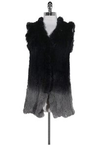 Love Token Grey Rabbit Fur Vest