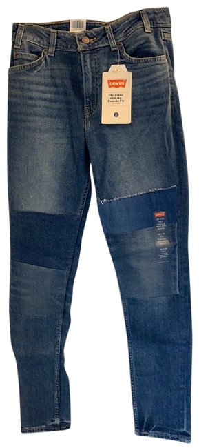 Item - Blue Distressed 721 Vintage High Rise Skinny Jeans Size 6 (S, 28)