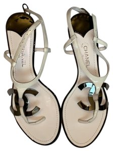 189e3e09b5d White Chanel Sandals - Up to 90% off at Tradesy