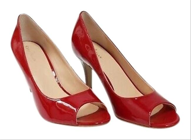 Item - Red Air Lainey Open Toe / Peep In Pumps Size US 9 Regular (M, B)
